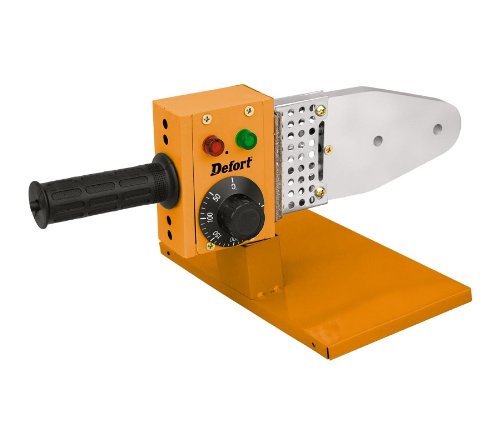 Defort DWP-1000 - Saldatrice per raccordi per tubi in plastica, 800-1000 W
