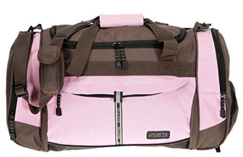 SPEAR Sporttasche @VENTURE Fitness Tasche Sport Tasche PINK / BRAUN
