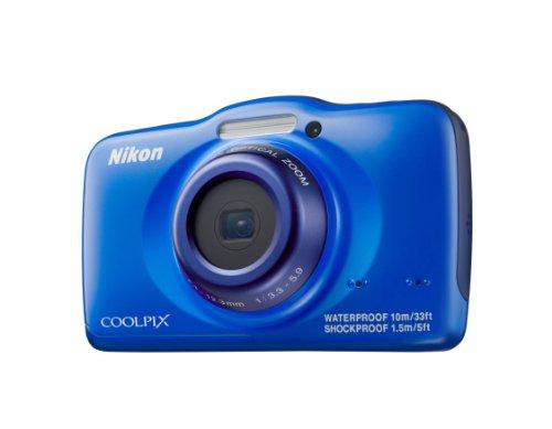 Nikon Coolpix S32 Digitalkamera (13 Megapixel, 3-fach optischer Weitwinkel-Zoom, 6,7 cm (2,7 Zoll) LCD-Monitor, Full-HD-Videofunktion, Kreativ-Effekte, wasserdicht, stoßfest) blau (Nikon Coolpix Wasserdicht)