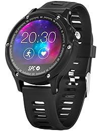 SPC 9612N táctil Bluetooth Black Sport Watch–Sport reloj (Black, Splash Proof, Bluetooth, Spanish, 12h/24h, 240x 240píxeles)