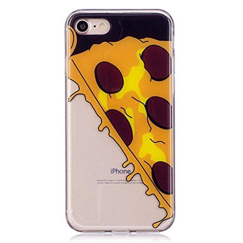 Cover iPhone 7 , YIGA Punto donda Labbra rosse Cristallo Trasparente Silicone Morbido Case Molle TPU Shell Caso Protezione Custodia per Apple iPhone 7 (4.7) WL6