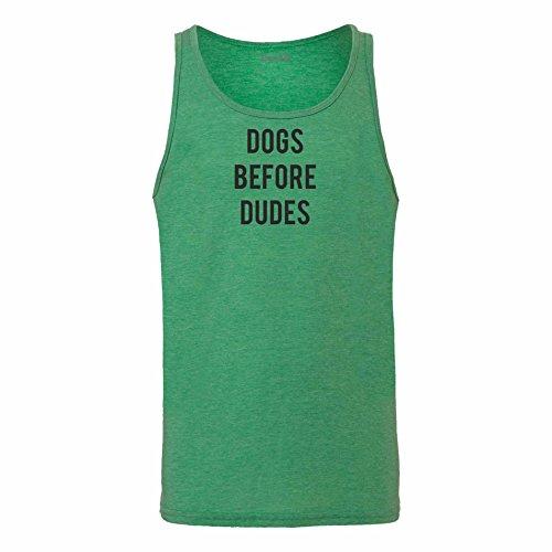 Brand88 - Dogs Before Dudes, Unisex Jersey Weste Gruen Meliert