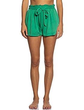 [Patrocinado]Abbino IG004 Pantalones Cortos para Mujer - Hecho en ITALIA - Colores Variados - Entretiempo Primavera Verano...