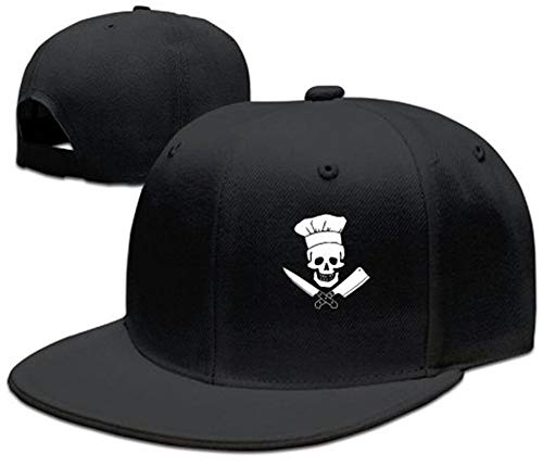 fgjfdjj Skull-Chef Cooking Skull Hat Grill Master Unisex Style Strapback Hat - Master Chef Gas Grill