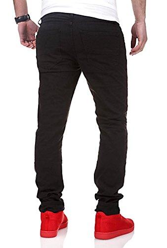 MT Styles Biker Jeans Slim Fit Chino-pantalon RJ-2010 Noir