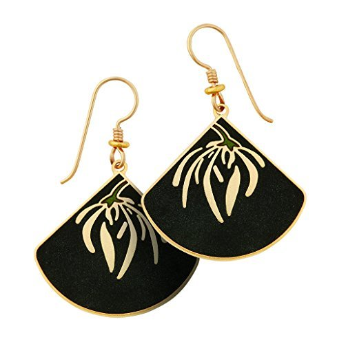 laurel-burch-willow-fans-drop-earrings-with-charcoal-black-sandstone-finish-in-gold