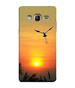 PrintVisa Designer Back Case Cover for Samsung Galaxy Z3 Tizen :: Samsung Z3 Corporate Edition (Sun With He Bird Flying)