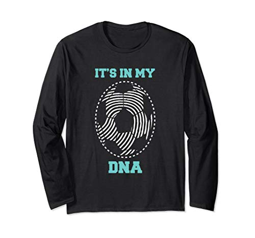Mama Fußball Kostüm - Fußball It's In My DNA Fußball Fingerabdruck Erbgut  Langarmshirt