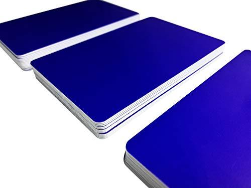 Blanko vergini 85 x 54 x 0,76 mm bianco /100/pezzi 1/ Nuovo Carte di plastica bianco metallizzato con campo firma