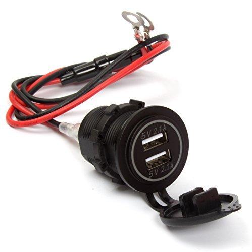 Ginsco 4.2A (2.1A + 2.1A) Doble puerto USB adaptador de coche mechero...