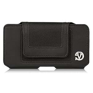VanGoddy 5.5 Inches Leather Belt Clip Pouch Holster Case for Motorola Moto G5 Plus / Moto Z Play / Moto G4 Plus / Moto X Play / Moto G4 (Black)