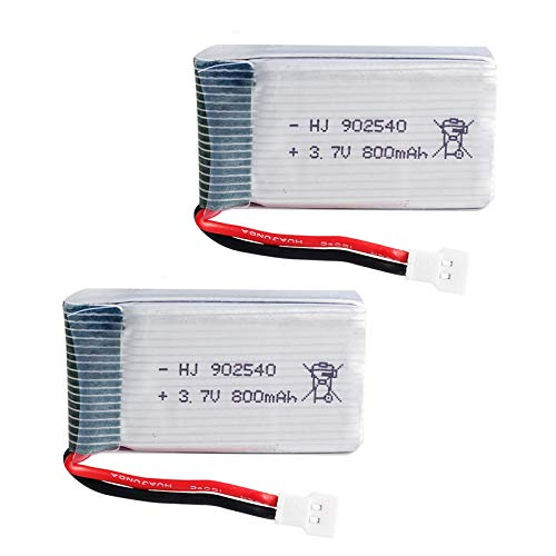 Gecoty 2pcs 3.7V 800mAh 25C Lipo Battery Spare Parts For SYMA X5 X5C X5SC X5SW RC Quadcopter