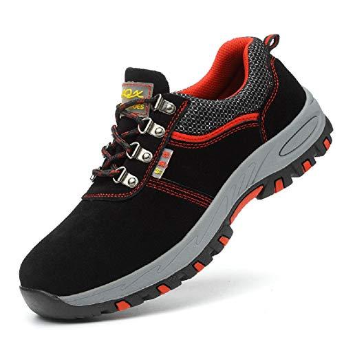 Aizeroth-UK Uomo Donna S3 Scarpe da Lavoro Comodissime Traspiranti Scarpe antinfortunistiche con Punta in Acciaio Stival Calzature da cantiere escursionismo Sneaker di Sicurezza per Industria Edilizia
