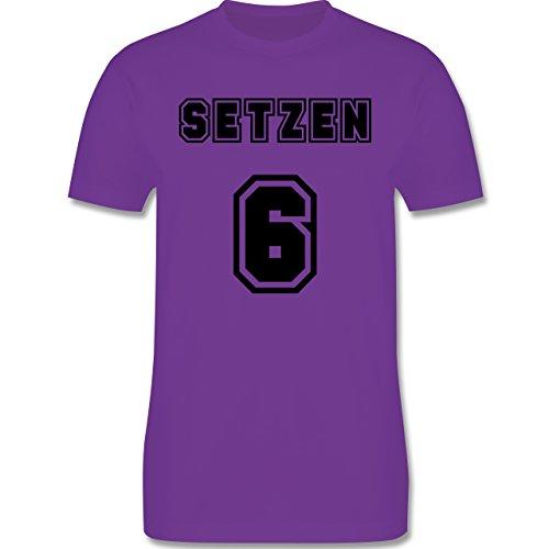Statement Shirts - Setzen sechs Setzen 6 - Herren Premium T-Shirt Lila