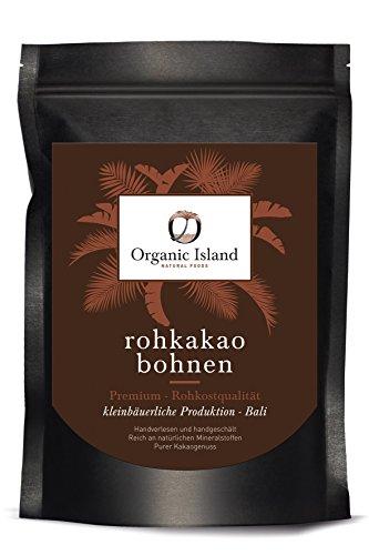 BIO Kakaobohnen aus Bali 500g - Premium Rohkost Qualität - handsortiert und handgeschält - Rohkakao Bohnen - Schonend getrocknet - Rohe Kakaobohnen – Rohkakaobohnen - Roh Kakaobohnen der Sorte Criollo
