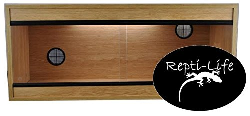 Repti-Life 36x15x15 Inch Vivarium Flatpacked In Oak, 3ft Viv