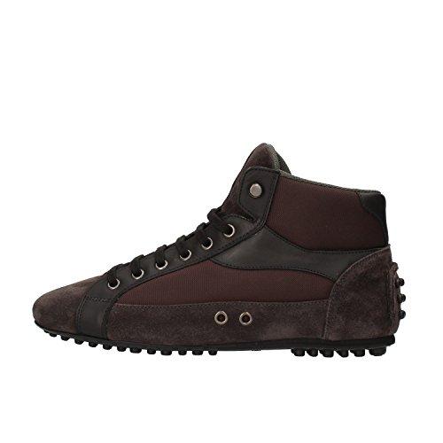 car-shoe-by-prada-sneakers-homme-noir-marron-cuir-daim-textile-af146-39-eu