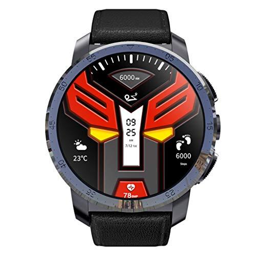 Chshe® Smart Watch - 4G-Smartwatch, 2 + 16G-Speicher, 1,39-Zoll-Amoled-Display, Ip67-Wasserdicht, Mtk6739-Quad-Core-Prozessor, 8,0 Mp Pixel (Schwarz)