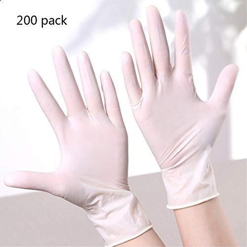 Preisvergleich Produktbild WSN Disposable vinyl gloves Nitril-Testhandschuhe,  medizinischer Nicht-Latex-Puderfreie Texture-Einweg-Fingerspitzen lebensmittelecht sauber groß milchig (200 Stück)