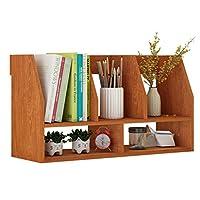 DUOER-Bookcases Neat Wooden Tabletop Large-capacity Bookshelf, Multi-Use Modular Storage Shelving Storage Rack Organizer(60x20x30cm)