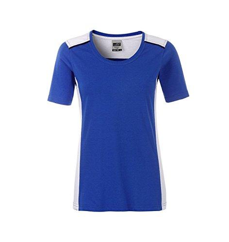 Ladies' Workwear T-Shirt-Level 2 in royal/white Größe: M