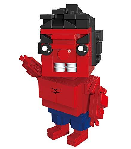 Modbrix Blockheadz RED HULKSTER Super Heroes Superhelden 135 Bausteine (Deadpool Marvels Lego Spielzeug)