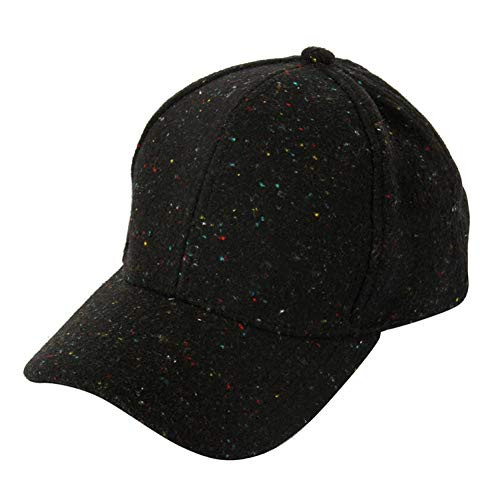 WYKDA Mode Rot Schwarz Grau Einstellbare Warme Filz Knochen Baseballmütze Frauen Männer Hip Hop Wildleder Winter Hysteresenkappen Hut