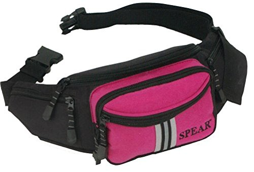 SPEAR® SIMPLISTIC 1681 Gürteltasche Hüfttasche in 4 Farben schwarz/pink