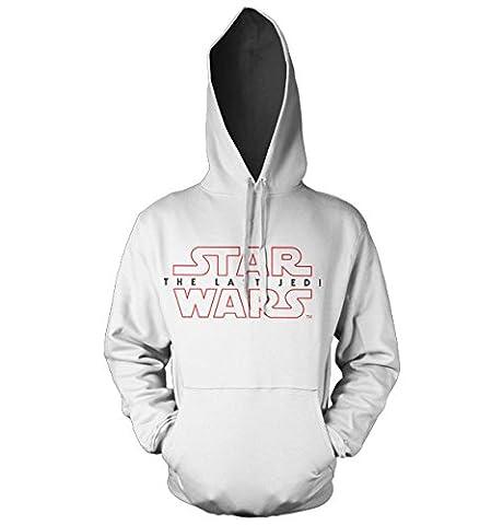 Officiellement Sous Licence Star Wars - The Last Jedi Logo Sweat à capuche (Blanc), XX-Large