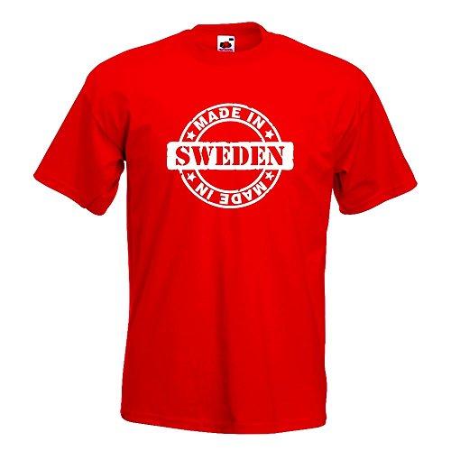 KIWISTAR - Made in Sweden T-Shirt in 15 verschiedenen Farben - Herren Funshirt bedruckt Design Sprüche Spruch Motive Oberteil Baumwolle Print Größe S M L XL XXL Rot