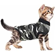 Suitical Recovery Suit Cat, XXX Small, Black Camouflage