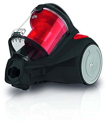 Dirt Devil DD2325-3 Yazz-3.1 Aspirateur sans Sac Cyclonique + Brosse Parquet/Mini Turbo Noir/Rouge