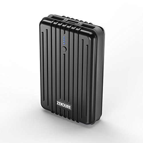Zendure A3 Power Bank 10000mAh 2 Porte USB Caricabatterie Portatile Batteria Esterna Ultra Leggero per iPhone, Samsung, Huawei, iPad e Altro Smartphone - Nero