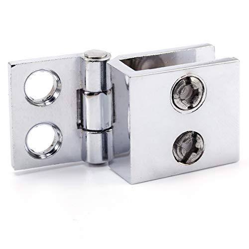 41ldEeyUz2L - SurePromise - Juego de bisagras para puerta de cristal (4 unidades, 5 mm-8 mm, rectángulo, ajustables)