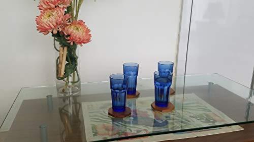 Untersetzer aus Teakholz für Gläser und Getränke. Hartholz-Abdeckung, kompakt, Braun -