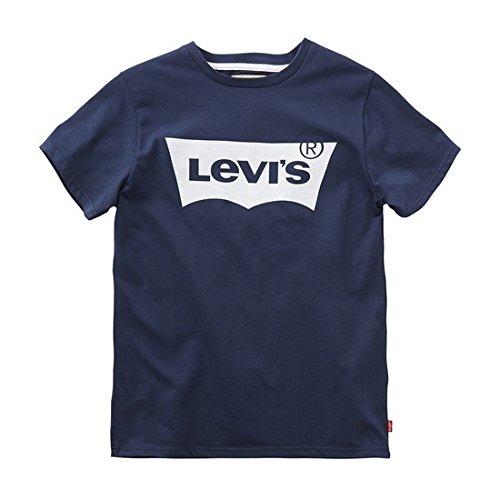 Levis Kids Jungen Regular Fit T-Shirt N91004H, Gr. 128 (Herstellergröße: 8A), Blau (Marine 04)