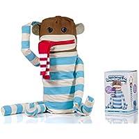 Suck UK Sock Monkey Laundry Bag, Blue