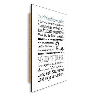 artissimo, Dekopanel, Deco Panel, ca. 29x41cm, PE6066-PA, Dorfkindmomente, Bild mit Spruch, Spruchbild, Wandbild, Wanddekoration, Poster mit Spruch, Typographie, Typografie