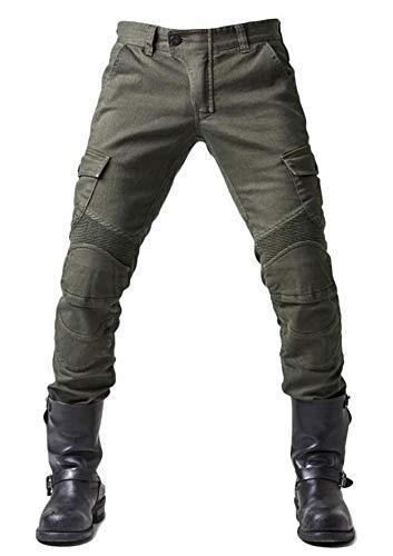 WildBee Strada Motociclo Da Corsa Pantaloni Fuori Strada Equitazione Jeans con Cuscinetti Protettivi Rimovib