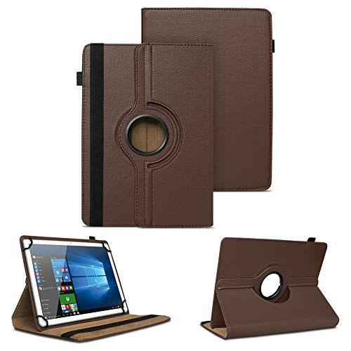 NAUC Universal Tasche Schutz Hülle Tablet Schutzhülle Tab Case Cover Bag Etui 10 Zoll, Farben:Braun, Tablet Modell für:Blaupunkt Enterprise 1020CH