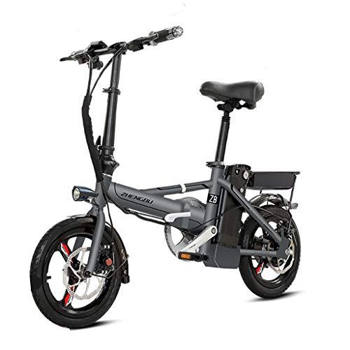 Bici elettriche Pieghevole Bicicletta Elettrica Ultra Leggera Piccola Batteria Auto Adulto Lega di Alluminio Batteria al Litio Auto Elettrica, Vita Elettrica 60-70 Km