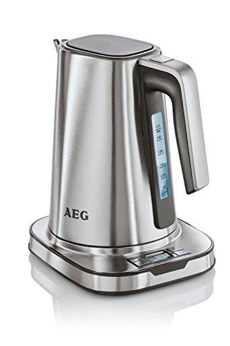 AEG Wasserkocher PremiumLine 7Series EWA 7800 (HighContrast-LCD-Display, 1,7 L, 8 Temperaturstufen, Warmhaltefunktion, 1 Cup-Funktion, Einhand-Deckelöffnung, 2400 Watt) Edelstahl