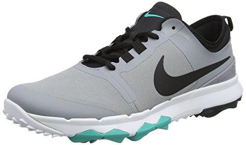Nike Fi Impact 2, Chaussures de Golf Homme, Gris (Stealth/Black/Clear Jade/White), 42 EU