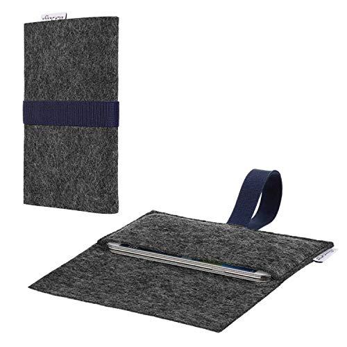 flat.design vegane Handy Hülle Aveiro für Energizer P20 passgenaue Filz Tasche Case Sleeve Made in Germany