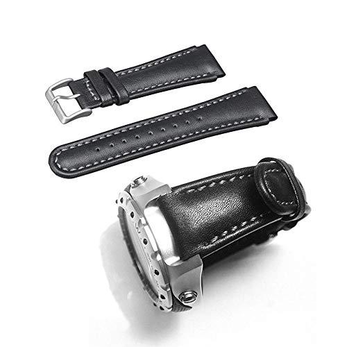 Navigatee Handgelenkband - 22mm Echtes Lederarmband Uhrenarmbänder Armband Ersatz für SUUNTO X-Lander