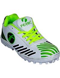 Feroc Green White Cricket Sports Shoe