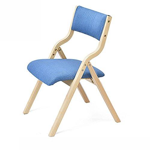 KSUNGB Klappbarer Stuhl aus Holz Buche Holzwerkstoffplatte Ergonomie Essensstuhl Schüler Hocker...