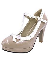 COOLCEPT Mujer Moda Al Tobillo Sandalias Cerrado Planos Zapatos (34 EU, Hua Se)