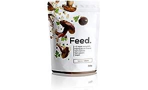 Feed. Original 5 Meal Bag Porcini Mushroom - Complete Meal - 100% Vegan - Lactose-Free - Gluten-Free - GMO-Free - 750g