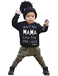 Baby Set, eenkula 2016Nuevo Cute Kids Set ropa manga larga Carta impresión camiseta + pantalones trajes set